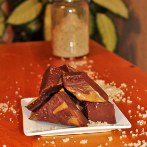 Brevin's Dark Salted Caramel Fudge