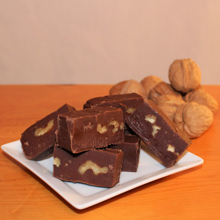 Brevin's Dark Chocolate with Walnuts Fudge